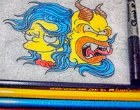 Marge & Homero *Tattoo Design*