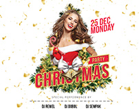 Christmas Party Flyer & Social Media Banner Template
