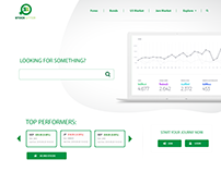Website UI & UX Design for Stock Broker