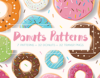 Donuts - patterns and illustrations
