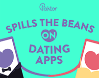 Paktor - Spill the Beans on Dating Apps Infographics