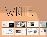 Free Write Presentation Template