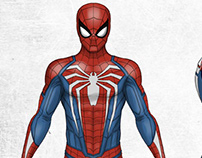 Playstation 4 Spiderman Action Figure design.