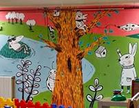 """Mural infantil, Camping """"Els Roures"""""""
