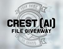 Crest Free Download (Ai File)