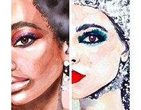 Chanel Beauty Illustrations