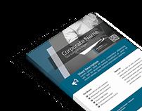 Freebie Corporate Flyer PSD template