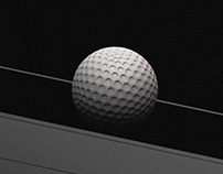 Saturn Golf Moon // Colagem Digital