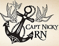 Capt. Nicky RN site-logo design