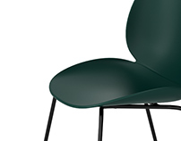 3d model: Beetle Dining Chair Un-Upholstered by Gubi