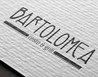Diseño logo, tarjetas de visita y chapa para Bartolomea
