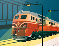 Illustrations of different type trains