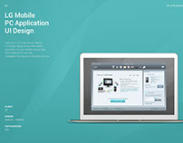 LG Mobile PC Application UI Design