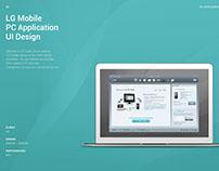 LG Mobile PC Application UI Design