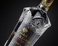 """Vodka """"Gold Uzbekistan"""". Label and bottle design."""