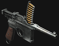 Mauser C96 (Unity game ready asset)