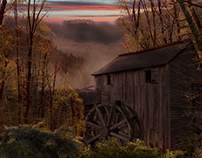 the Old Mill - Digital Landscape Painting