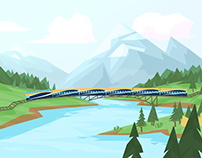 ROCKY MOUNTAINEER animated spot - concept art