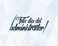 Lettering - Día del administrador