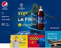 Pepsi® UEFA Landing Page