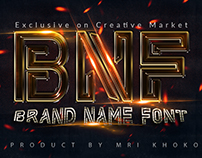 Brand Name Font