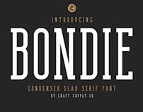 FREE | Bondie Condensed Slab Serif Font