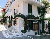 Streets of Skiathos Town