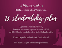 Invitation to the student prom