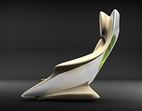 Futuristic luxury armchair concept