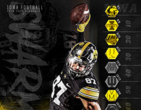 2018 Schedule Poster: Iowa Football