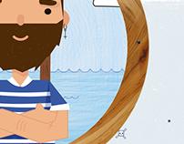 Ilustración capitán barbudo