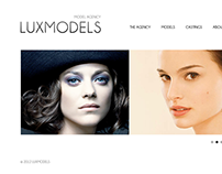 Luxmodels web design