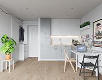 Small apartment interior in Warsaw, Poland № 008