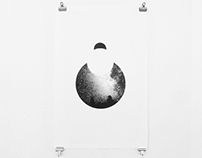 Screenprint - - The Moon