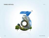 Three Office Logo and Branding