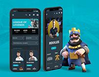 UI/UX + Visual design. eSports project.
