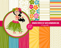 Hawaiian Digital Paper Set