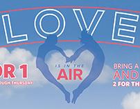 Sky Zone Valentine's Day Campaign