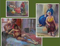 Two Figures - Compositions In Colour
