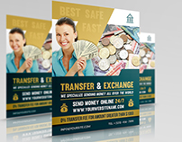 Transfer & Exchange Money Flyer Template