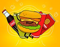 Ilustración & Animación (Burger Beats)