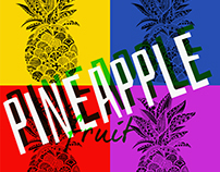 Pineapple - cartoon Pop Art