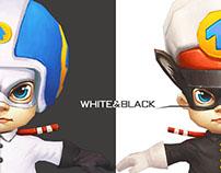 Black sergeant game 3d character design