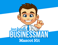 Your Friendly Businessman Mascot Kit