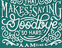 Handlettering: A. A. Milne Poster