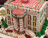 White House ginger bread house