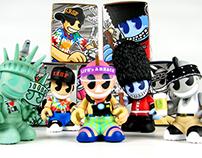 """Kidrobot """"CITY BOTS"""" 3in Mascot Figures"""