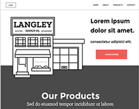 Langley Supply Co. Initial Website Design