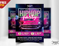 Hiphop Night Party Flyer PSD