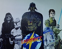 Laserforce Starwars Mural